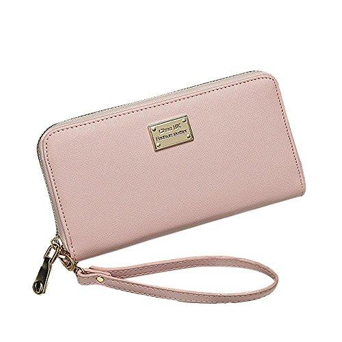 Culater® Mode de Femmes à main d'embrayage Portefeuille Porte-cartes Petit Sac (Rose)