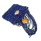 Redes de pesca de decoración Mttheaw con caracolas, color azul