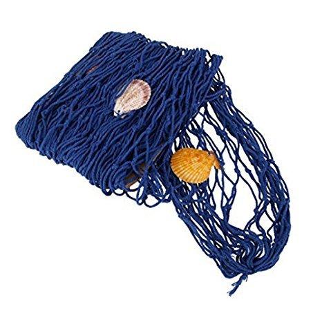Preisvergleich Produktbild mttheaw Cafe Wand Dekorationen Angeln Netze mit Seashell Netze Home Dekoration ornaments-blue