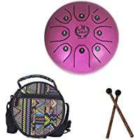 TODAYTOP - Instrumento de percusión de tambor de acero de 5,5 pulgadas, mini tambor de lengua de Brahma, perfecto para meditación personal, yoga, zen y curación de sonido, morado