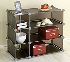 wenko capacit honey cube gris 3 tages tag re tag re tablette meuble d 39 appoint tag re. Black Bedroom Furniture Sets. Home Design Ideas