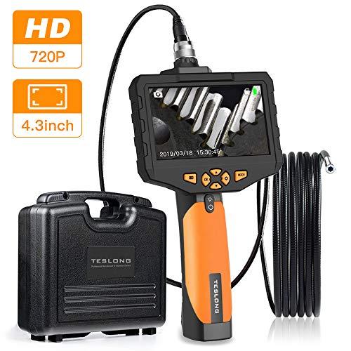Teslong Inspektionskamera 4,3-Zoll-Farb-LCD-Monitor Mit 720P HD-Auflösung Aufnehmen Industrie IP67 wasserdichte Hand Endoskop Kamera Kabel 5,5mm Durchmesser(Länge 3 m)