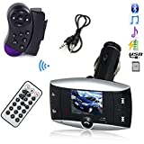 LCD Car Kit MP3 Bluetooth Player SD MMC USB Remote Wireless USB LCD Bluetooth Car Kit MP3 Player Music Player FM Transmitter FM Modulator Player with Steering Wheel Control Car Kit HandsFree MP3 Player