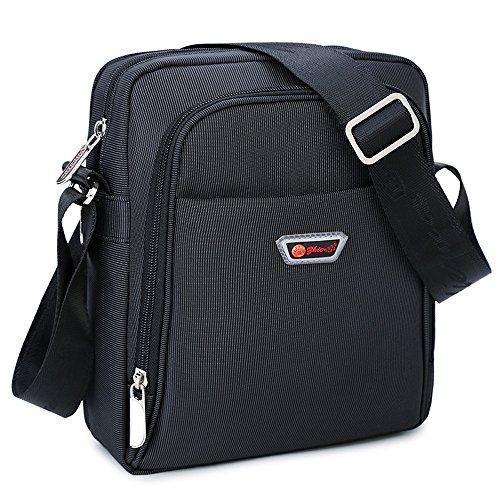Umhängetasche klein Herren schwarz Schultertasche Urlaub Schultasche Reise Herrentaschen Messenger Bag Crossover