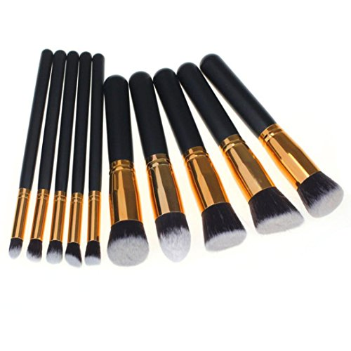 Tonsee® Maquillage 10PCS brosse cosmétiques Pinceaux de Teint Poudre Fard à paupières