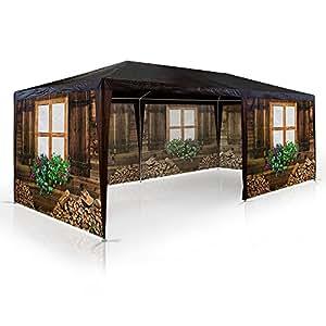 pavillon skih tte almh tte oktoberfest partyzelt 3x6m bierzelt gartenlaube. Black Bedroom Furniture Sets. Home Design Ideas