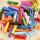 #8: CLOUD 9 Mini Colored Wooden Pegs+80m Jute Twine Craft Wedding Hanging Photo Clips Pack
