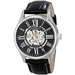 Stuhrling Original Classique Delphi Atrium Men's automatic Watch with Analogue Display and Black Leather Strap