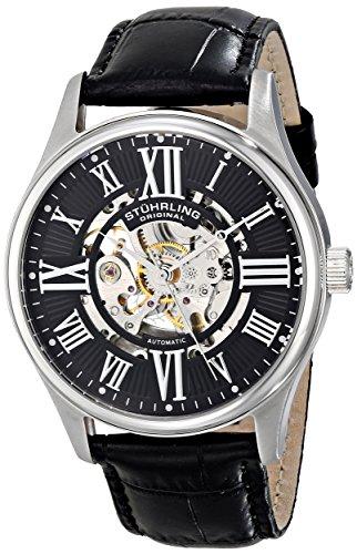 stuhrling-original-man-atrium-74702-reloj-automatico-hombre-correa-de-piel-negro