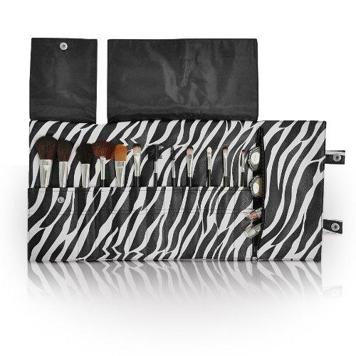 Brosse de Maquillage de stockage Wrap Imprimé zèbre Essence professionnel Pinceaux cosmétiques support
