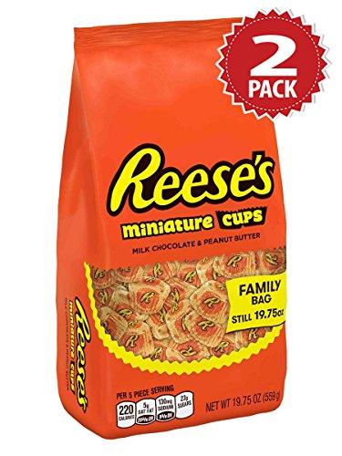 Preisvergleich Produktbild Reese's Peanut Butter Miniature Candy Cups - 2er Pack (2x560g)