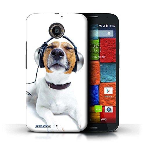 Kobalt® Imprimé Etui / Coque pour Motorola Moto X (2014) / Chien somnolent conception / Série Animaux comiques Chien avec casque