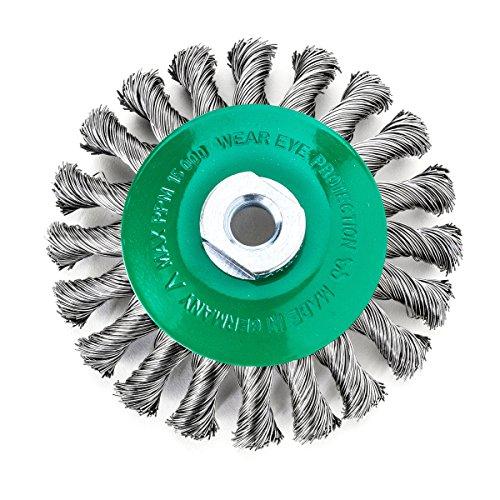 Lessmann 472857 Brosse conique torsadées Inoxydable 115 x 0,5 mm