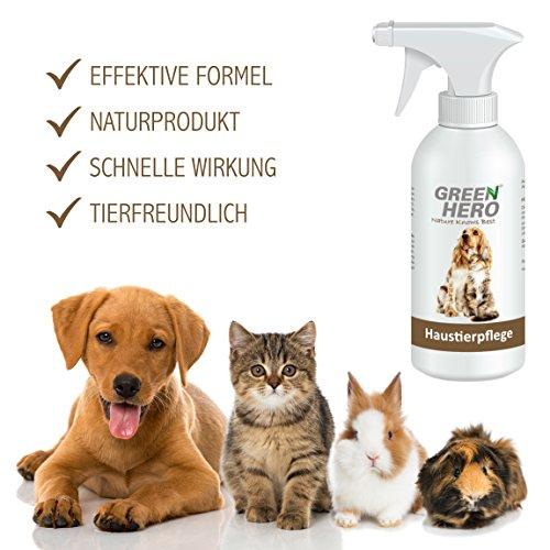 GreenHero Haustierpflege für Hunde- und Katzen | 500 ml| Gegen Milben und Hefepilze bei Juckreiz, Entzündungen, Infektionen, Reizungen und Ekzemen