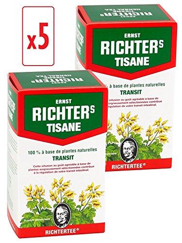 Richters TRANSIT - 5 cajas de té de hierbas de Ernst Richter de 20 so