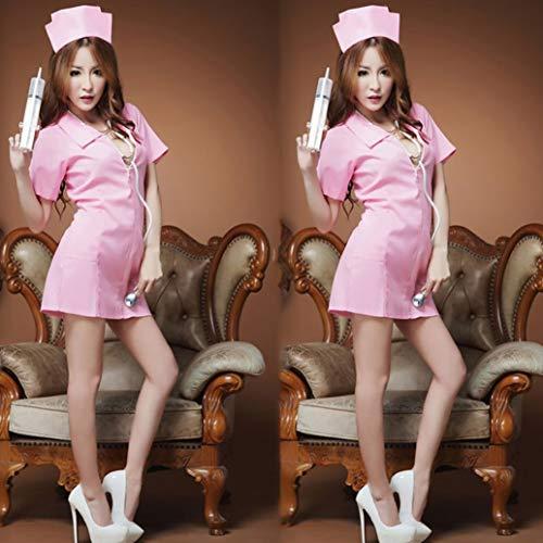 760bec477a849 Celerest Sexy Lady Nightdress Zipper Nurse Uniform Sleepwear Temptation Clothing  Set Cosplay Costume Women Nightwear
