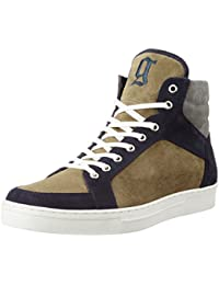 Galliano Men's Blue Leather Sneakers