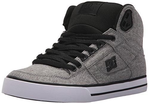 DC Shoes Men s Spartan High WC TX SE Hi Top Shoes Black Heather Gray 9 54eae056c8c