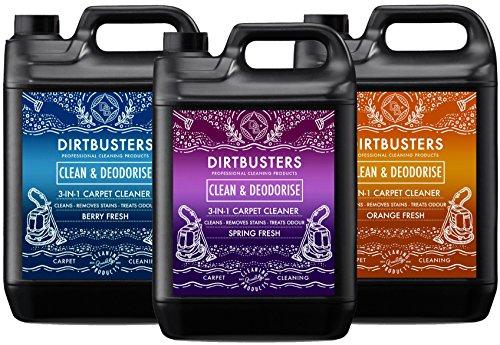 dirtbusters reinigen und Desodorierenden orange Berry und spring Fresh Konzentrat 3 x 5 Liter - Orange Teppich-reiniger