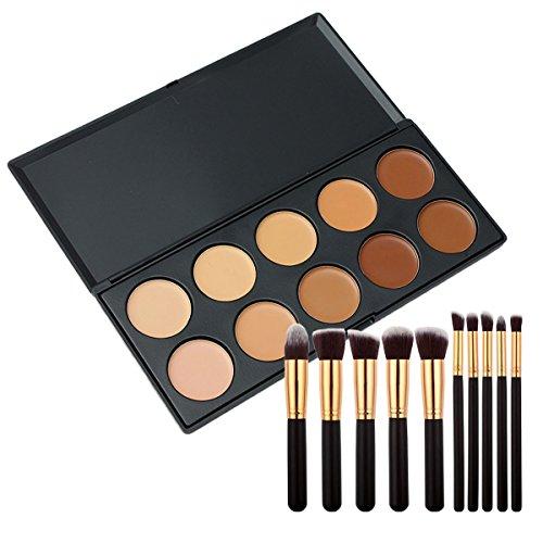 Vococal® Maquillage Visage Cosmétiques Anti-Cernes et Maquillage Pinceaux Kit Set