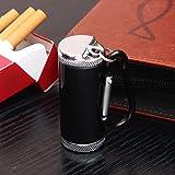 YVJEMNSM Posacenere Portatile in Metallo,Posacenere Sigarette all'aperto con Coperchio Posacenere Antivento-C