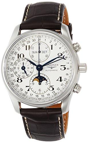 Longines Reloj Analógico para Hombre de Automático con Correa en Cuero L26734783