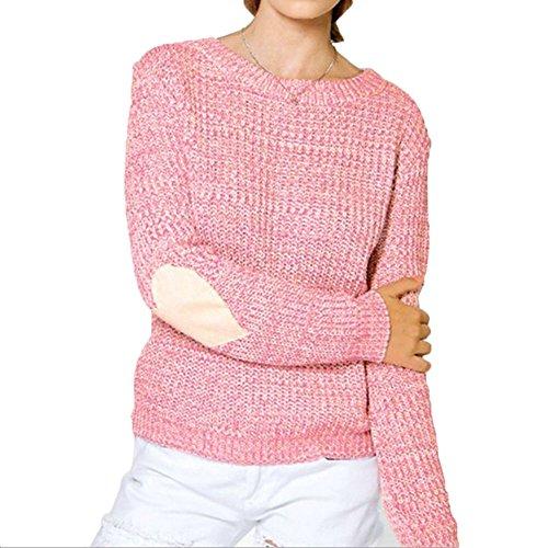 Donne Maglieria Saltatore - Lungo Manica Maglia Accostare Maglione Ovesized  Chunky Giro Collo Saltatore Sweater Top