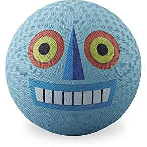"Crocodile Creek 2159-4 - Balle en caoutchouc - Playground Ball - 7"" - Alien - Bleu"