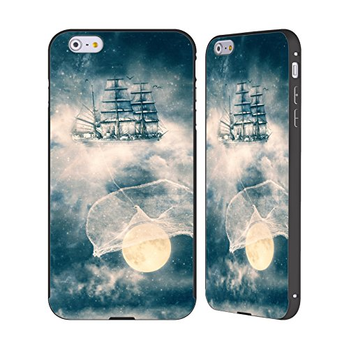 Ufficiale Paula Belle Flores Una Notte A Parigi Luna Nero Cover Contorno con Bumper in Alluminio per Apple iPhone 5 / 5s / SE I Am Gonna Bring You