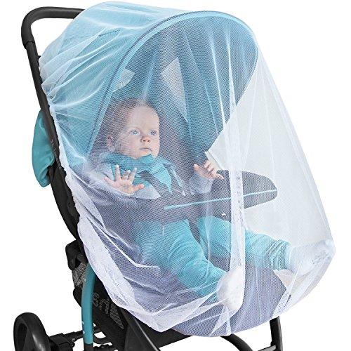 Baby zanzariera per passeggino, seggiolino auto e culla – protezione bebè premium anti-insetti per carrozzina, carrier & pack n play -baldacchino anti-insetti per bambini e confezione regalo