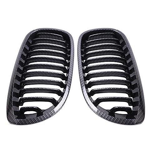 Wanoos Fibre de carbone Noir Rein Grille hotte Grille pour BMW E462DR Coupe 2004–2006