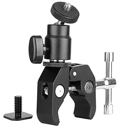 ChromLives Camera Clamp Mount Kugelkopfklemme - Super Clamp und Mini-Kugelkopf mit 1/4