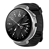 OOLIFENG 4G Wifi Smartwatch, 1.39 Zoll OLED Display, Android 7.0 Betriebssystem, Pulsmesser Kompatibel mit Ios und Android,Silver