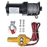 vidaXL 12 V Elektrische Seilwinde Winde 907 KG Fabelernbedienung Seilzug Elektrowinde