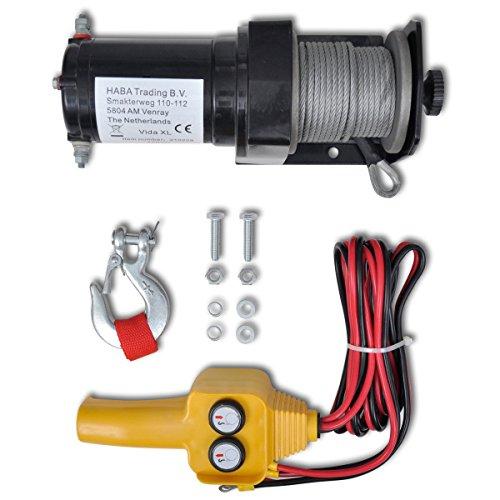 Cabrestante Control remoto de cable Mando a distancia de alambre 12 V Torno eléctrico 907 KG