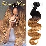 Sunny 24 Pulgadas Two Tone Ondulado/Body Wave Remy Brasileno Human Hair Weave 1b/27# Ombre Extensiones de la Trama del Pelo 100gramo/bundle