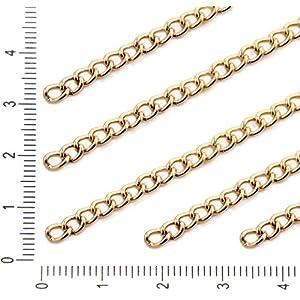 1m 3.3 ft 1.1 yds Placcati in Oro Ovale Cavo di Collegamento della Catena di Gioielli in Metallo Risultati all'Ingrosso 3.5 mm