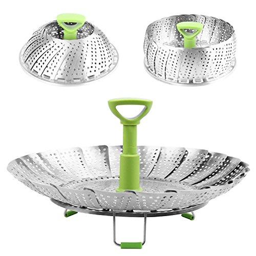 """SYGA 9"""" Medium Stainless Steel Steamer Basket for Vegetable/Insert for Pots, Pans,"""