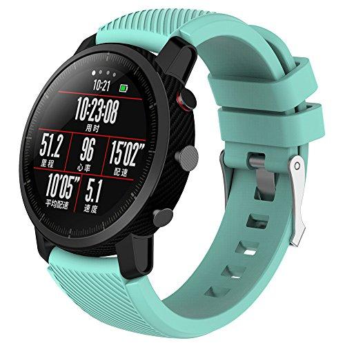 406bb754fcd1 LANSKIRT Suave Silicagel Correa de Reloj Deportivo Recambio Brazalete  Extensibles Pulsera para HUAMI Amazfit Stratos Smart