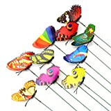 Sungpunet Colourful Garden Butterflies on Sticks x10. Dia 8cm by West5Products