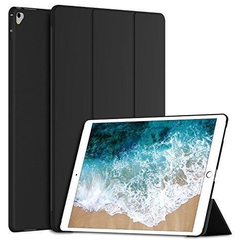 JETech Hülle für Apple iPad Pro 12,9 2017, Licht und Dünn Schutzhülle mit Ständer Funktion und Auto Einschlafen/Aufwachen, Schwarz