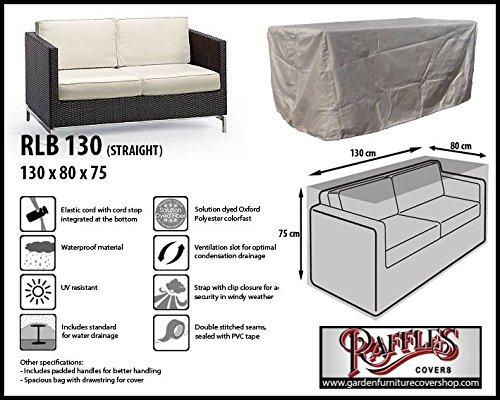 RLB130straight Hülle für Lounge Bank, Rattan Gartensofa oder Lounge Sofa, 2 Personen, passt am...