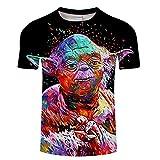 Sjdhx Unisex Magliette 3D Stampato Uomo Estate Casuale T Shirt Manica Corta Donne Tees Asciugatura Rapida Stretch Tops Master Yoda XL