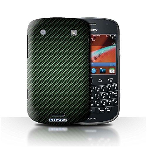 Stuff4® Hülle/Hülle für BlackBerry Bold 9900 / Grün Muster/Kohlenstoff-Faser-Muster Kollektion -