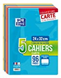 Oxford Scolaire Lot de 5 Cahiers agrafés 24x32 96 Pages...