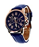 Cosmic Geneva Platinum Analogue Blue Dia...