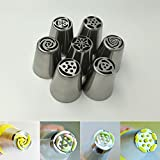 #6: BEST DEALS - 8 Piece Nozzle Piping Set For Cake Decorating, Sugarcrafting & Icing (Assorted DESIGN)
