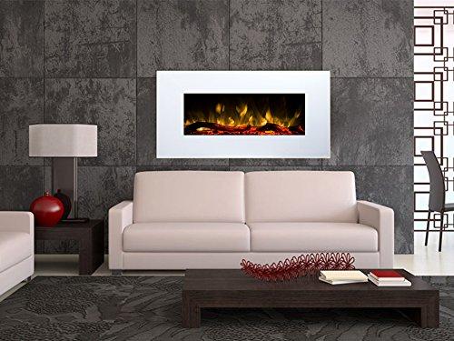 Chimenea Eléctrica Glow Fire Pluto, chimenea de pared eléctrica (1500W calefactor, LED...