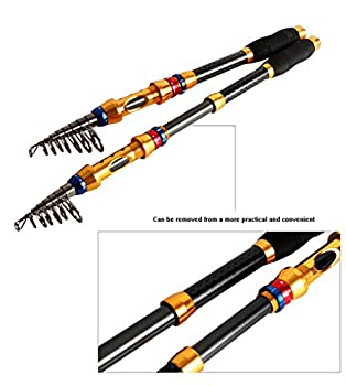 Supertrip Tm Telescopic Fishing Rod Portable Carbon Fiber Fishing Rod Pole Saltwater Travel Retractable Spinning Fishing Rod Size 2.1m6.89ft 7