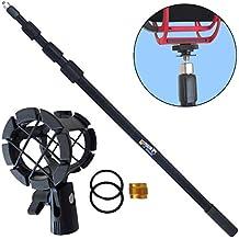 KEEPDRUM MPB03 - Asta telescopica per microfoni, lunghezza 3 m, con supporto elastico a ragno PCMH1 - Borsa Di Tenuta Nastro